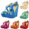 Multi Bright Colour PU Leather Women Sandle