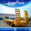 60 Tons 3 Axles Concave Type Low Flatbed Semi Trailer