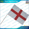Hand Waving England Flag with Wooden Pole (A-NF01F03012)
