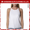 Custom Plain White Cheap Bodybuilding Cotton Lycra Tank Tops (ELTWBJ-39)