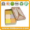 Rectangular Cosmetics Metal Box Soap Tin with Eiffel Tower Design