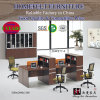 Modern Style Office Furniture Oak Wooden Workstation
