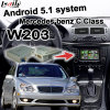 Android GPS Navigation Box Video Interface for Mercedes-Benz C Class W203 Cast Screen Waze Youtube WiFi Bluetooth