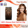 100% Human Hair Full Set Clip in Extension (#6) PCS