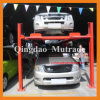 CE Four Columns 2 Level Floors Layer Hydraulic Parking System Four Post Mini Parking Lift