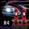 Fluxbeam LED Headlight Kit/Clear Arc-Beam Bulbs H4 High/Low Lamp