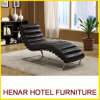 Metal Construction Faux Leather Chesterfiled Modern Chaise Lounge