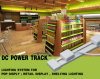 DC Power Track for Goods Shelves Lighting Instead of Electric Wire