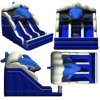 Underwater Blue Shark Theme Inflatable Dry Wave Slide for Kids and Adults