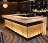 Bar Counter Corian Bar Translucent Stone Decorated Bar Counter