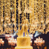 Customized Wedding LED Curtain Lights with Crystal Decoration