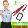 Eco-Friendly Promotional Custom Printing Ribbon Lanyard for Card Holder