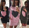 Wholesale Latest Lady 3 Colors Sexy Long Sleeve Plus Size Fancy Dress