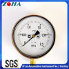 6 Inch Ss Case Brass Connector Shakeproof Pressure Meter with Pressure Range 0.25MPa IP65 Protection Degree