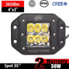CREE Work LED Light Flush Mount (3inch, 30W Spot, IP68 Waterproof)