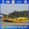 Tri Axle 60 Ton Heavy Duty Low Bed Truck Trailer