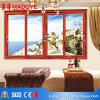 Energy Saving Sliding Window with Brown Aluminium Window Frames