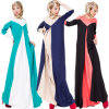 Linen Muslim Long Sleeve Kaftans, Islamic Jilbab Arab Abayas (A990)