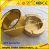 Customized Anodized Gold Aluminium Extrusion Products with Aluminum CNC