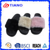 Extra-Soft Fur Upper High Flatform Water-Proof PVC Outdoor Slipper (TNK35734)