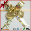 Metallic Craft Gold Strict Quality Control Butterfly Pull Bow