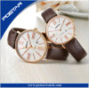 Ultrathin Couple Watch Design with Nato Strap and Genuine Leather Strap