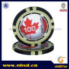 13.5g Clay Eight Stripe Poker Chip with Customize Sticker (SY-E25b)