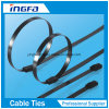 201 PVC Coated Ball Locking Stainless Steel Cable Ties