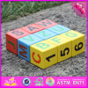 2016 Wholesale Baby Wooden Alphabet Blocks, Funny Kids Wooden Alphabet Blocks, Best Sale Children Wooden Alphabet Blocks W14b071