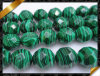 Faceted Round Beads, Fashion Stone Jewelry Malachite (GB076)