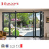 Thermal Break Double Glass Middle Open Folding Door for Commercial