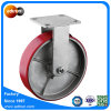 "Rigid 8"" PU Wheel Heavy Duty Industrial Caster with Roller Bearing"