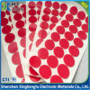 Die Cutting Round Red Pet Film White PE Foam Double Sided Adhesive Tape