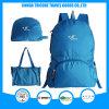 Hot Sale Light Blue Foldable Bag Backpack Tote Bag Two Usage