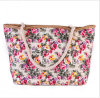 Flower Design Canvas Bag
