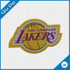 OEM Woven Label with Lakers Logo for Ball Uniform&Cap