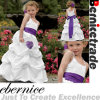 Cute White Wedding Flower Girl Dress