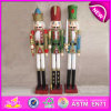 Hot New Product for 2015 Wooden Nutcracker, Best Seller Christmas Gift, Lovely Wooden Toy Nutcracker, Christmas Nutcracker Statue Decoration W02A012