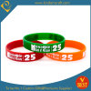 Debossed Logo Color Infilled Silicone Wristband & Bracelet