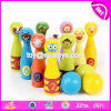 Best Hottest Indoor Wooden Kids Bowling Set for Fun W01b076