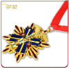 Customized 3D Gold Plated Medallion with Printed Lanyard
