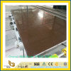 Polished Crstal Dark Brown Artificial Quartz Slabs for Countertops (YQC)