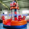 Fire Truck Cartoon Inflatable Rock Climbing Wall/Inflatable Climbing Rope Wall for Kids