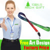 Zinc Alloy Clip Attached Multi-Color Woven Lanyard for Mobile Phone