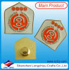 Free Design Gold Shield Shape Soft Enamel Badge Factory Supplier