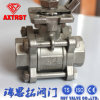 Ss CF8m 3PC Ball Valve with Locking Handle