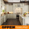 White L Shape Wood Kitchen Cabinet with Island (OP15-S05)
