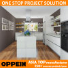 Modern White Acrylic and Unique Spain Sintered Rock Kitchen Cabinets (OP16-A02)