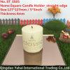 4mm Dark Brown Straight Edge Glass Mirror Candle Holder