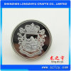 Custom Shiny Silver and Matte Silver Double Plated Metal Pin Badge Button